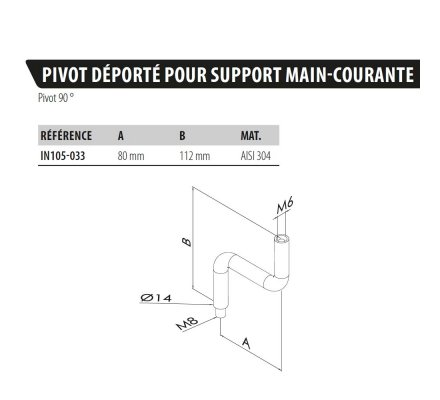 SUPPORT DE MAIN COURANTE EN S