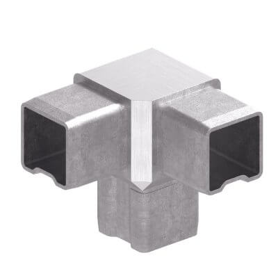 Raccord double Y pour tube carré IN106-244-04